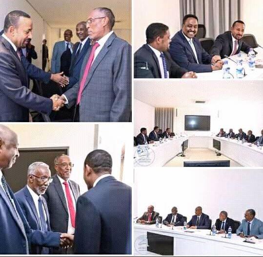 Kulanka waftiga Madaxweynaha Somaliland iyo Raysal-wasaaraha Itoobiya 2019