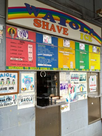 shave ice.