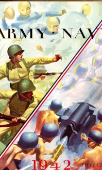 The cover of the 1942 Army-Navy game program.