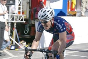 Capt. Ian Holt races for the United States cycling team at an international competition in Clonmel, Ireland, during the summer of 2009.