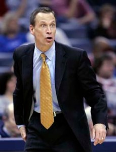 Tulsa head coach Doug Wojcik played at Navy from 1984-1987. (AP Photo/Mark Humphrey)