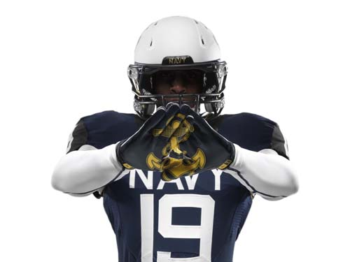 The Naval Academy's football team will rock these uniforms for the 114th annual Army-Navy game Dec. 14.  (Nike photo)