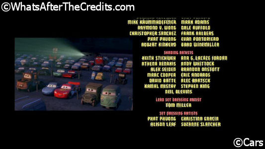 Cars 2006 Whats After The Credits The Definitive After