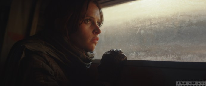 Rogue One: A Star Wars Story Jyn Erso (Felicity Jones) Photo credit: Lucasfilm/ILM ©2016 Lucasfilm Ltd. All Rights Reserved.