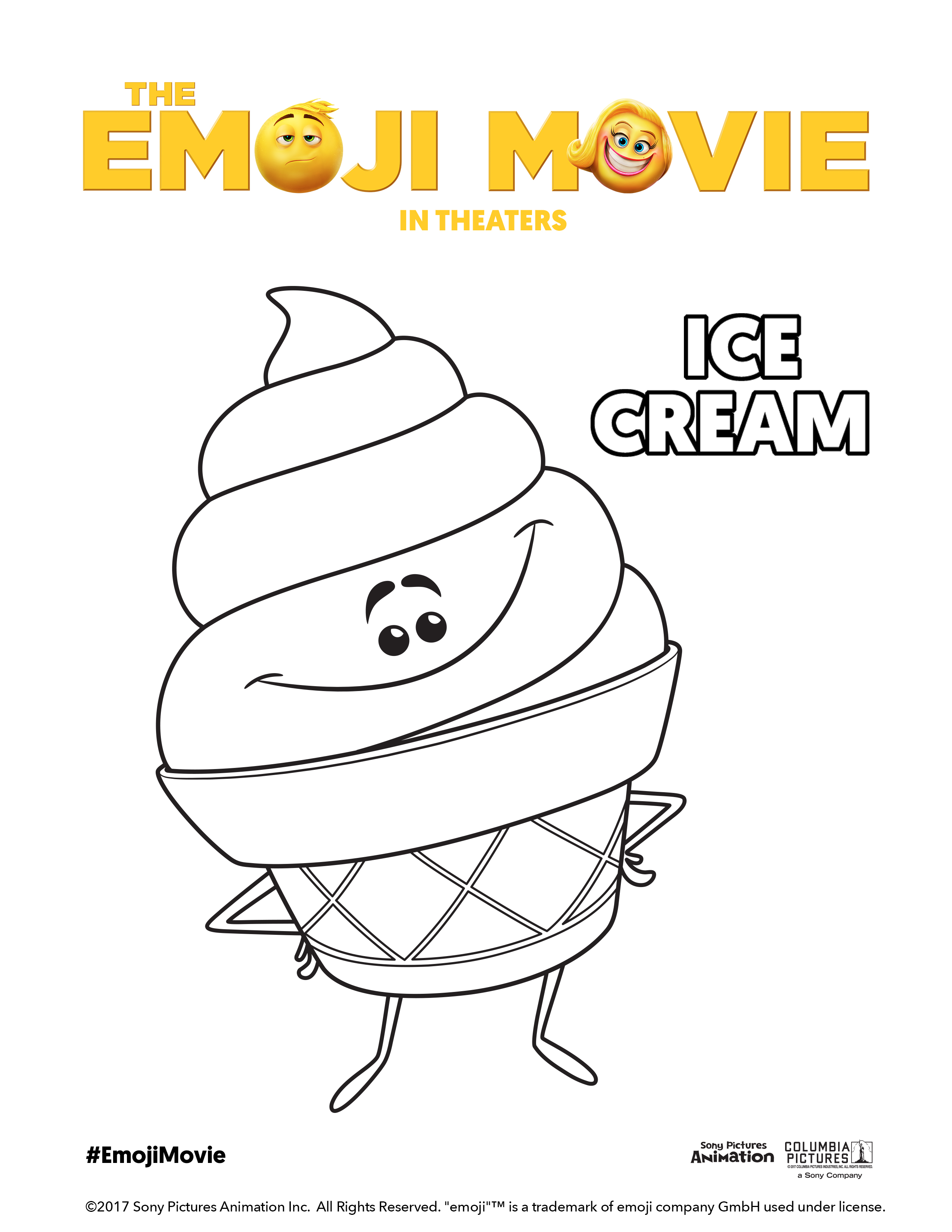 Coloring Pages Emoji Movie : The emoji movie coloring book heart pages