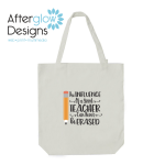 """Influence of a Good Teacher Can Never Be Erased"" on White Tote Bag"
