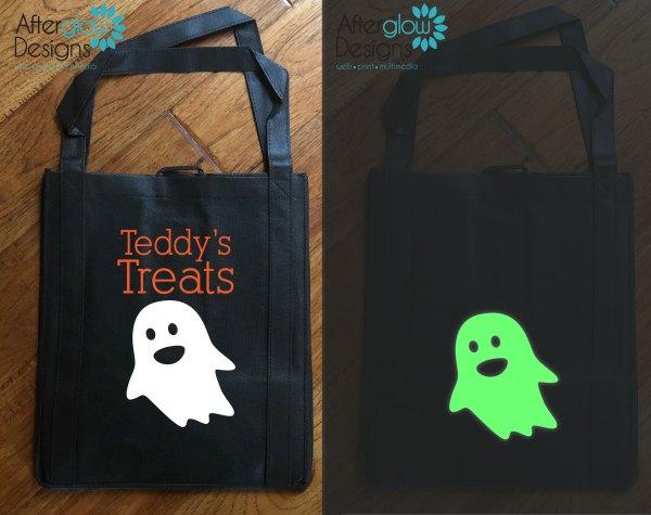"Trick or Treat Bag - Glow in the Dark ""Ghost"""