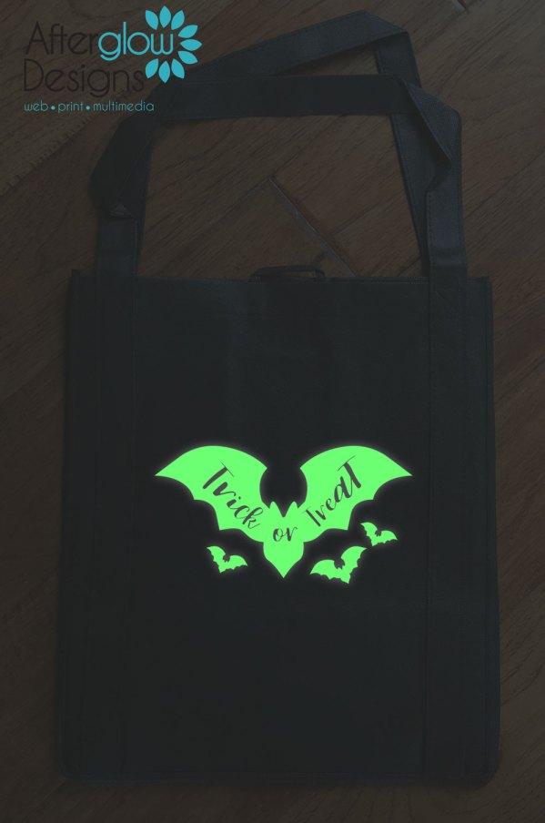 "Trick or Treat Bag - Glow in the Dark ""Bats"""