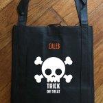 "Trick or Treat Bag - Glow in the Dark ""Skull"""