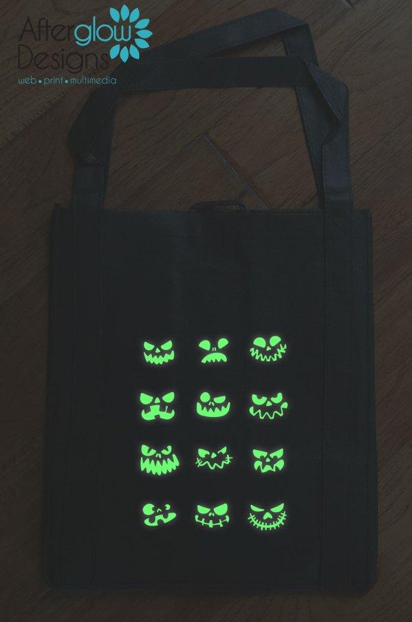 "Trick or Treat Bag - Glow in the Dark ""Jackolanterns"""