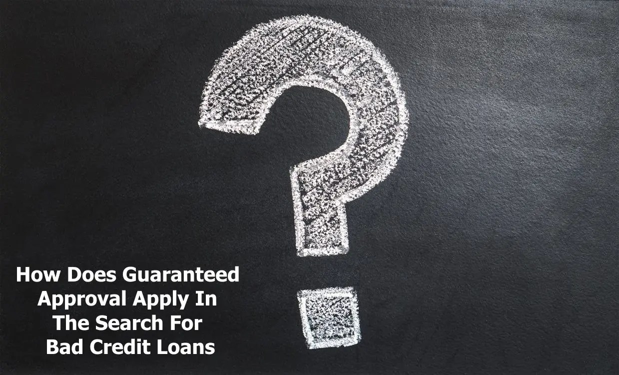 Bad Credit Loans In Canada Guaranteed Approval