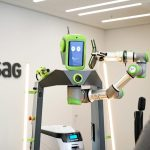 Humanoider Roboter am Empfang der WISAG AG Frankfurt