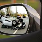 Unfall im Rückspiegel
