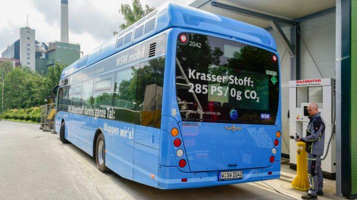 Wasserstoffbus Wuppertal