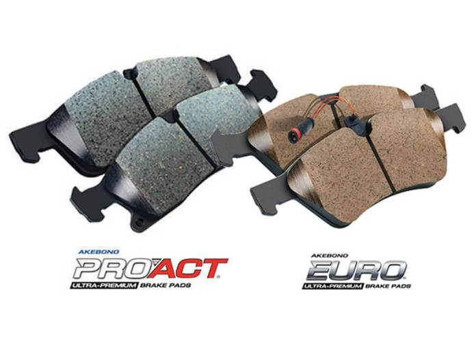All four of the Pro-ACT kits include premium stainless hardware; both of the EURO kits include a required electronic wear sensor.