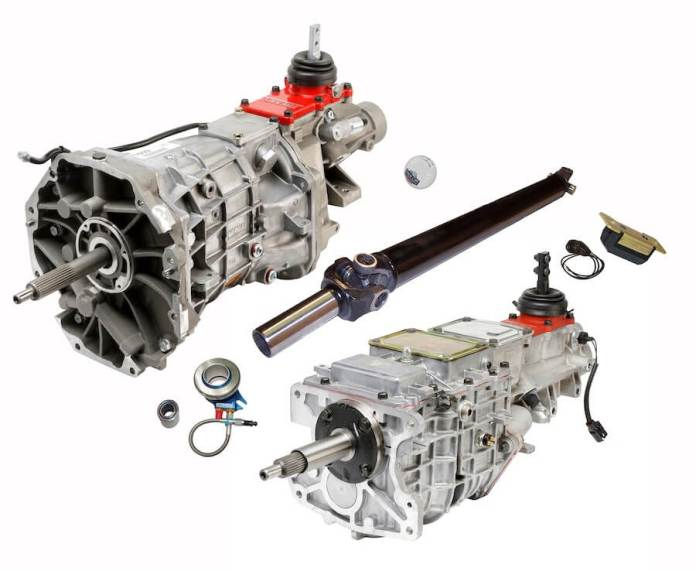 This image shows the American Powertrain 1988-98 Chevy/GMC C1500 (OBS) Truck 5 And 6-speed kits the company added to its ProFit Line.
