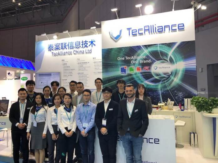The TecAlliance China team stands in