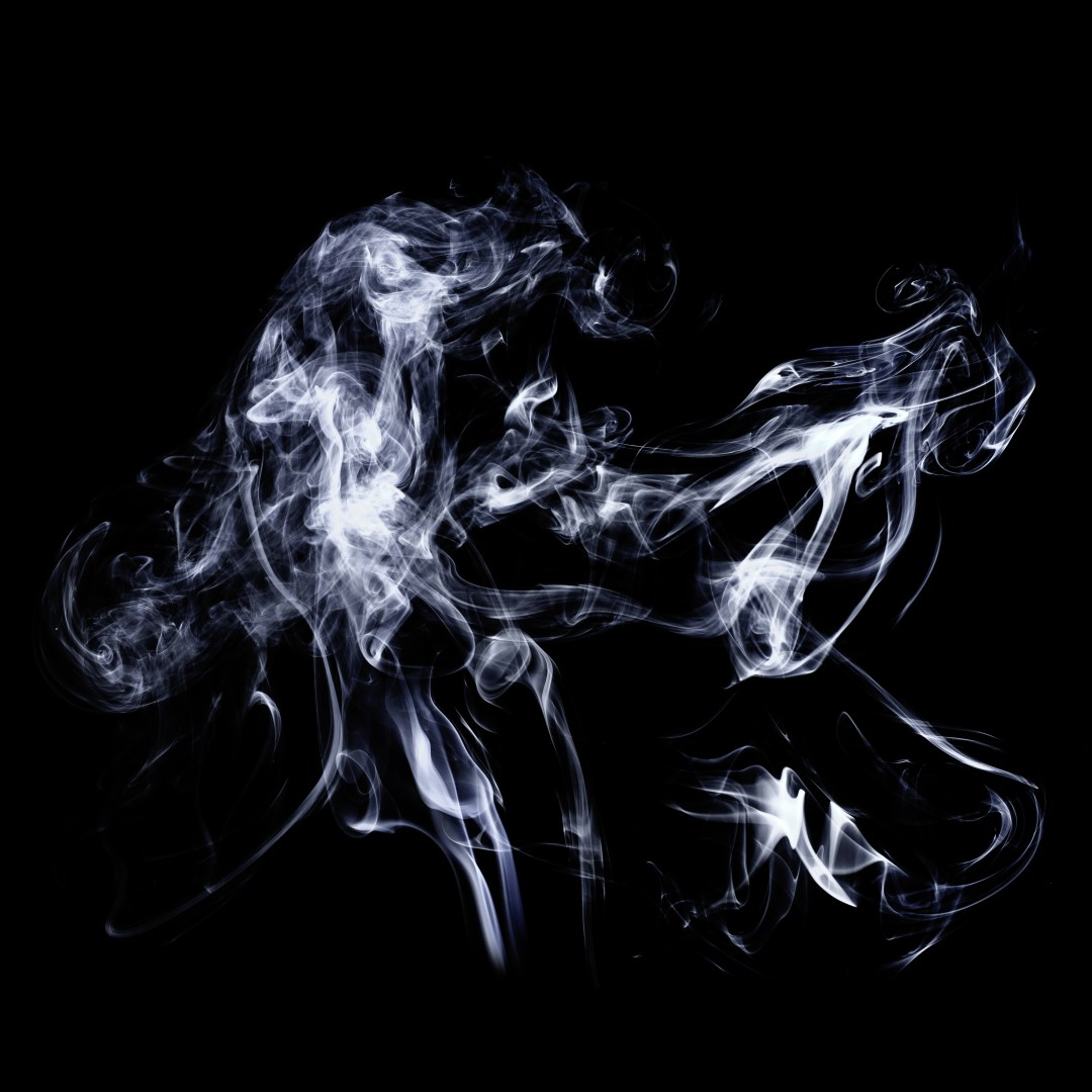 Movement of colorful smoke