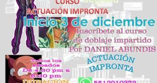 Inscribete al curso de actuación de Daniel Abundis
