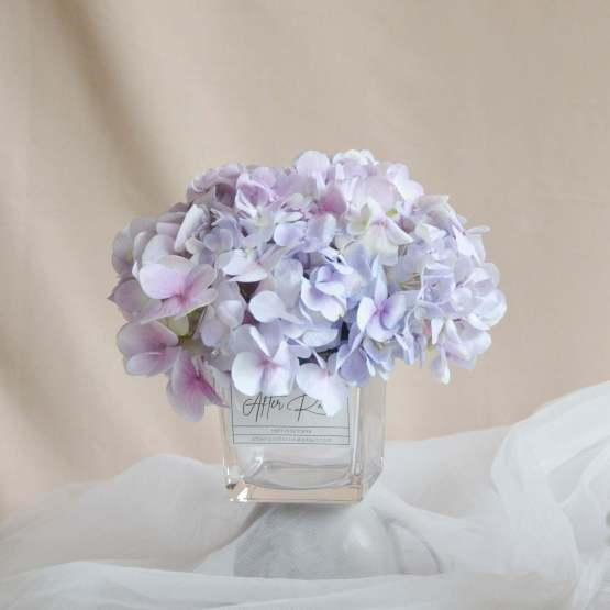 Fresh Flower on Glass Vase by AFTERRAINFLORIST