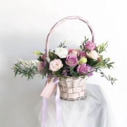 Flower Basket by AFTERRAINFLORIST