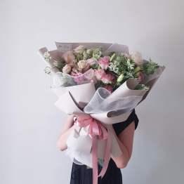 Pastel Colour Fresh Flower Bouquet by AFTERRAINFLORIST