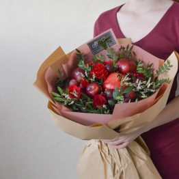 Red Series - Passion Red Buah Bouquet by AFTERRAINFLORIST
