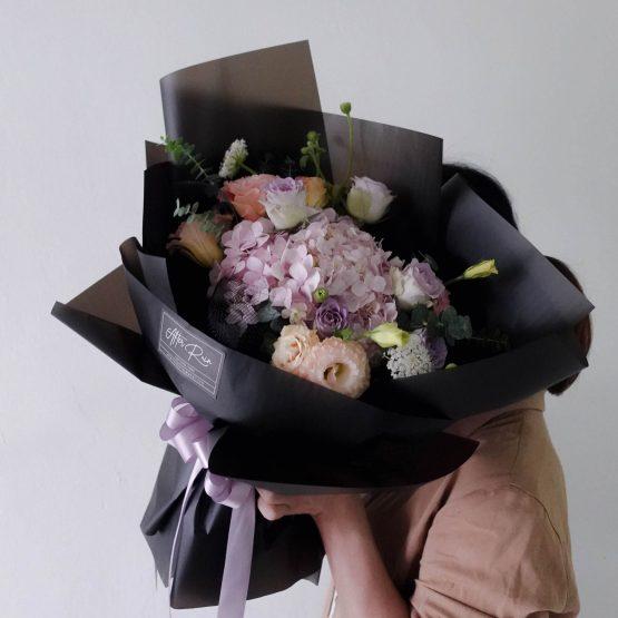 Cloudy Flower Romantic Fresh Flower,Hydrangea wrapping bouquet by AfterRainFlorist, PJ Florist, KL & Selangor(Klang Valley) Flower Delivery Service