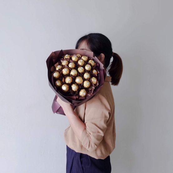 Classic style, Ferrero Rocher's Love Bouquet by AfterRainFLorist, Pj(Malaysia) Florist,KL & Selangor Flower Delivery Service