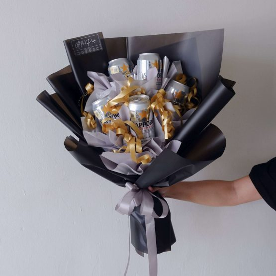 Men's Birthday Alcohol Special Creative Gift Sapporo Beer Bouquet by AfterRainFLorist, PJ (Malaysia) online Florist,KL & Selangor / Klang Valley Flower Delivery Service