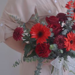 Wedding Rom Bouquet 2021 Simply Red Bridal HandTied Bouquet Bouquet by AfterRainFLorist, PJ (Malaysia) online Florist,KL & Selangor / Klang Valley Flower Delivery Service