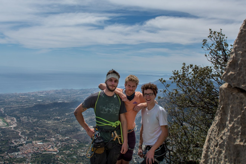 Chilling at the top of Puig Campana.