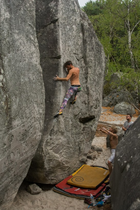 Pymn has been climbing since 2011 living on Portland the whole time until the start of 2015, now he splits his time between Portland and South Wales. Pymn joins the trio of Tenaya Tarifa climbers and always climbs harder in a pair of send tights.