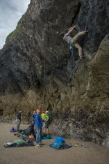 Tom working some moves on a 6c at Black wall.