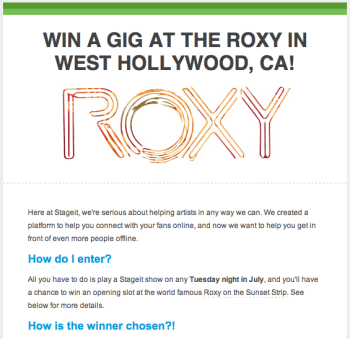 Stageit Rocks the Roxy
