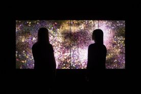 eamLab Flowers and People – Gold 2015, Art Gallery of New South Wales © teamLab, courtesy Martin Browne Contemporary, Sydney