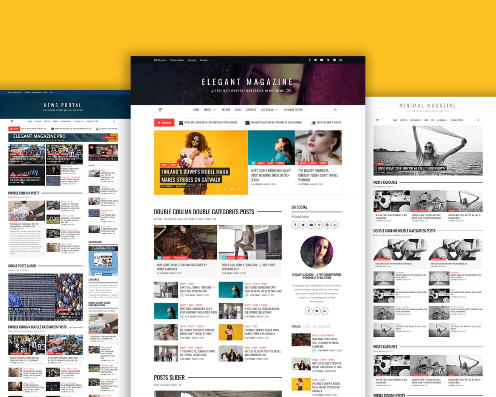 Elegant Magazine Free WordPress Theme and Template For 2019
