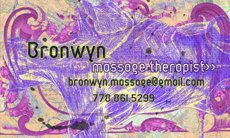 Bronwyn massage therapist