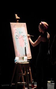 Anu 8 inter-arts performance - temporary painting -Afuwa