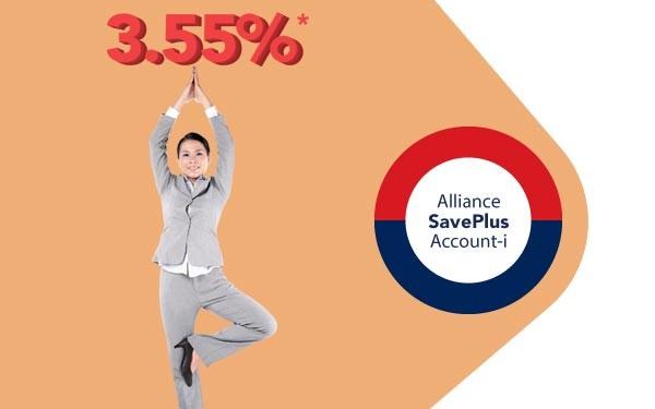Nikmati Hibah Setinggi 3.55% Dengan Alliance SavePlus Account - i