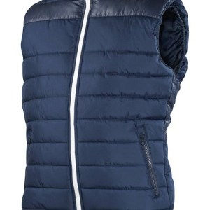 Navy Blue Padded Jacket without Sleeve AFYM-7006