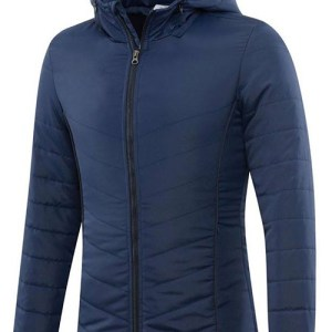 Navy Blue Bubble Jacket with Hood AFYM-7007