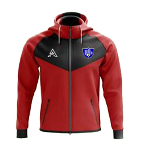 Black and Red Rain Jacket with Center Panel AFYM-6001