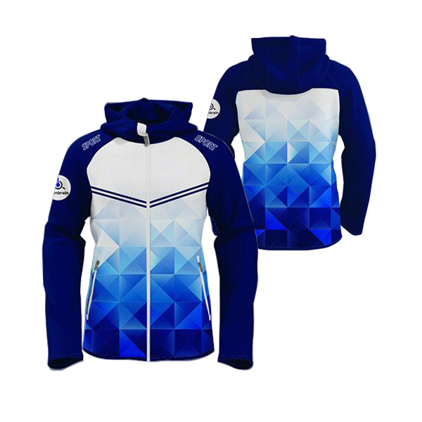 Blue with Sea Shaded Sublimation Hoodie AFYM-5005
