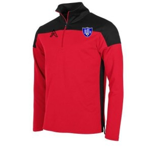 Custom Black and Red Quarter Zip Top AFYM:3001