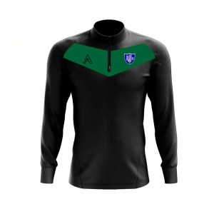 Custom Black with Green Center Panel Quarter Zip Top AFYM:3005