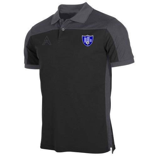 Custom Grey and Black Polo Shirt AFYM-4002