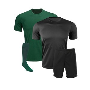Black and Green Reversible Sublimation Soccer Kit AFYM:11004