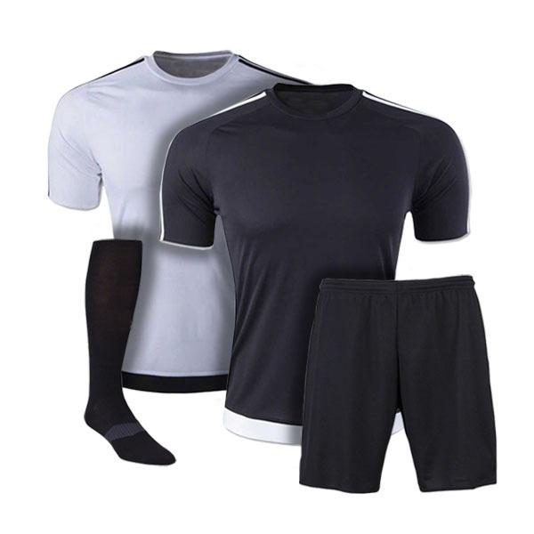 Black and White Reversible Sublimation Soccer Uniform