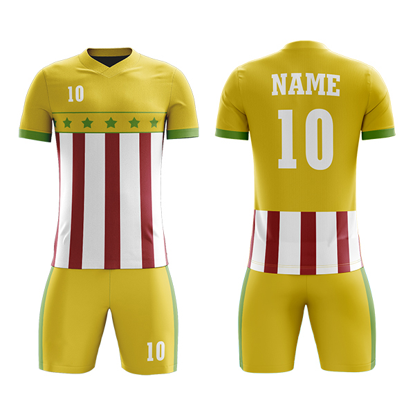 Custom Sublimation Soccer Kits with Flag Printing AFYM:2051